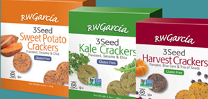 RW Garcia Introduces New Line of 3 Seed Gluten Free Crackers