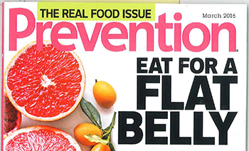 Harvest crackers featured in Prevention Magazine